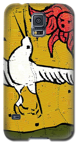 Flying Bird And Red Sun Face Galaxy S5 Case