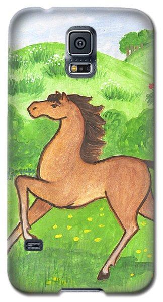 Foal In The Meadow Galaxy S5 Case