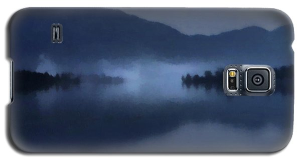 Fog On The Dark Mountain Lake Galaxy S5 Case