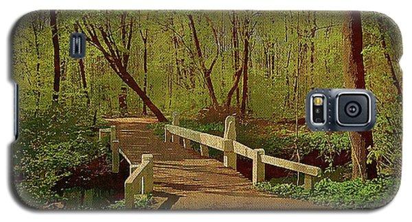 Footbridge Through The Woods Galaxy S5 Case