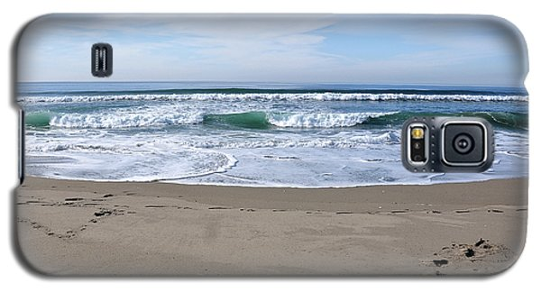 Footprints By The Sea Galaxy S5 Case