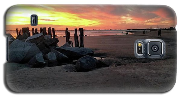 Fort Moultrie Sunset Galaxy S5 Case