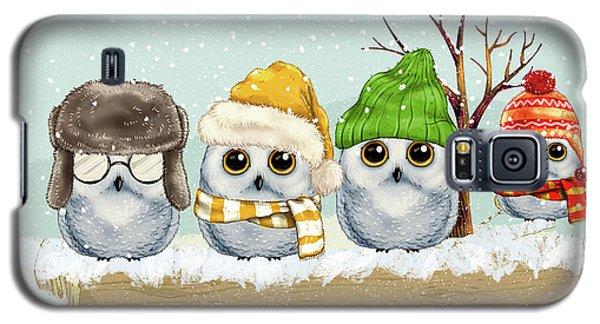 Four Winter Owls Galaxy S5 Case