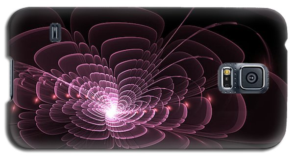Fractal Rose Galaxy S5 Case