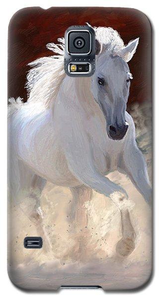 White Horse Galaxy S5 Case - Free Spirit by James Shepherd