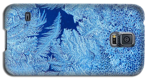 Icy Galaxy S5 Case - Frost Patterns On Window Glass by Andrey Krepkih