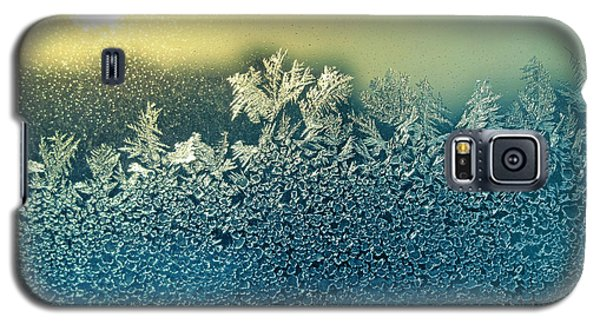 Icy Galaxy S5 Case - Frosty Natural Pattern And Sun On by Artdi101