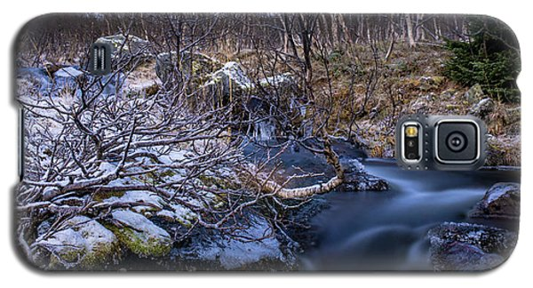 Frozen River And Winter In Forest Galaxy S5 Case