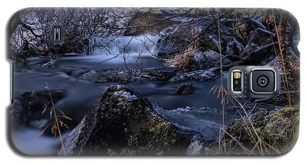 Frozen River And Winter In Forest. Long Exposure With Nd Filter Galaxy S5 Case