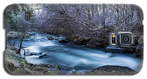 Frozen River Surrounded With Trees Galaxy S5 Case
