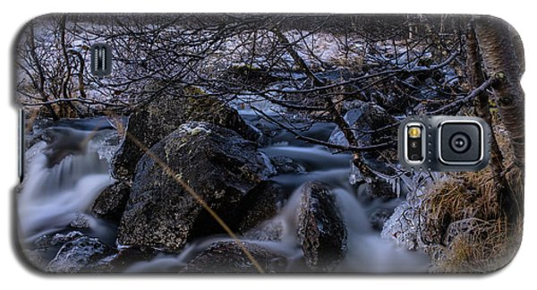 Frozen Stream In Winter Forest Galaxy S5 Case