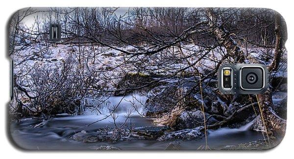 Frozen Tree In Winter River Galaxy S5 Case