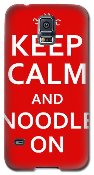 Fsm - Keep Calm And Noodle On Galaxy S5 Case