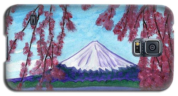 Fuji Mountain And Sakura Galaxy S5 Case