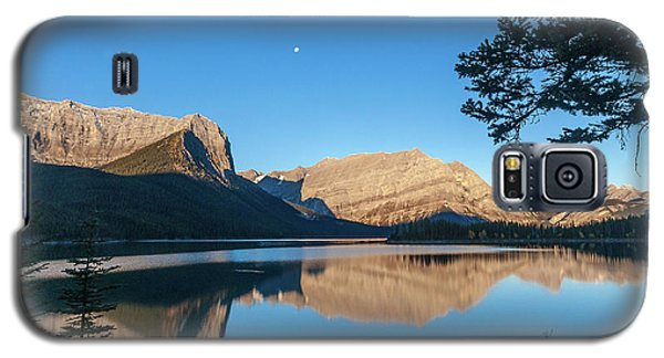 Full Moon Over Upper Kananaskis Lake Galaxy S5 Case