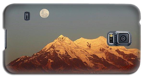 Full Moon Rise Over Mt Illimani Galaxy S5 Case