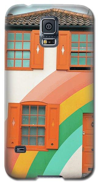 Funky Rainbow House Galaxy S5 Case