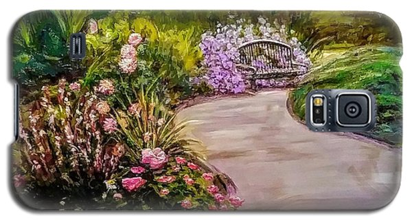 Path To The Garden Bench At Evergreen Arboretum Galaxy S5 Case