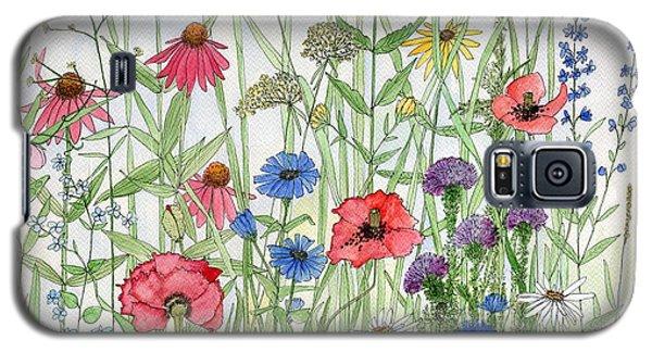 Garden Flower Medley Watercolor Galaxy S5 Case