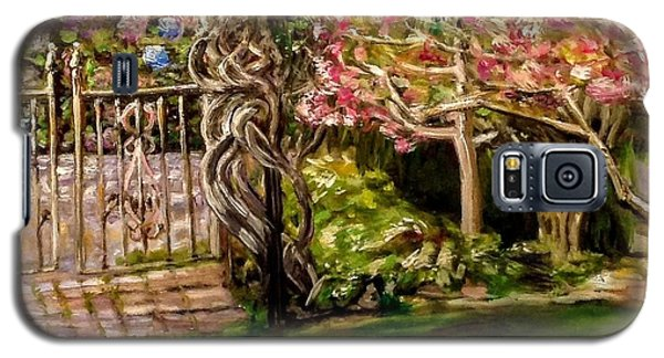 Garden Gate At Evergreen Arboretum Galaxy S5 Case