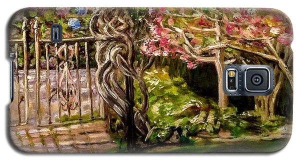 Garden Gate At Evergreen Arboretum Galaxy S5 Case