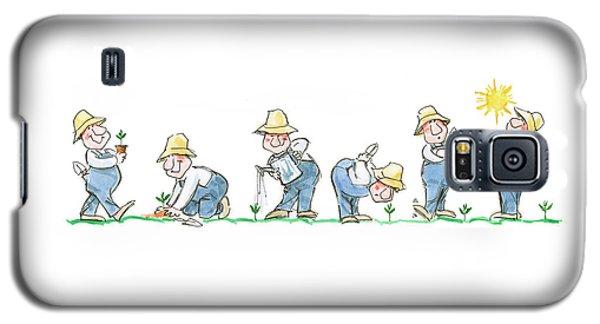 Garden Guy Planting Galaxy S5 Case