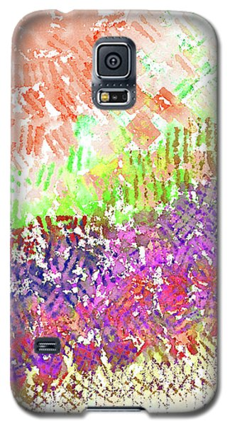 Galaxy S5 Case featuring the painting Garden Of Orange And Pink by Corinne Carroll