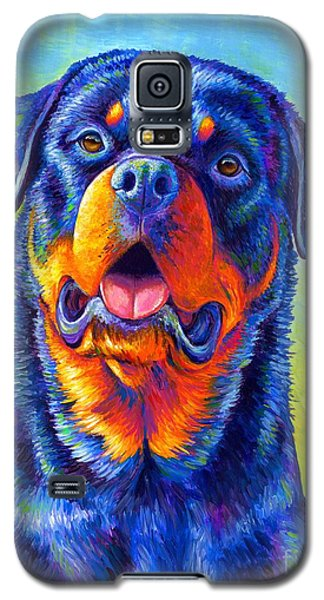 Gentle Guardian Colorful Rottweiler Dog Galaxy S5 Case