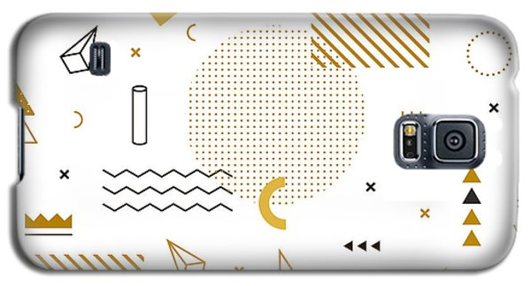 School Galaxy S5 Case - Geometric Gold Pattern For Fashion And by Fay Francevna