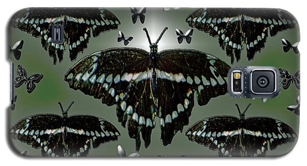 Galaxy S5 Case featuring the photograph Giant Swallowtail Butterflies by Rockin Docks Deluxephotos