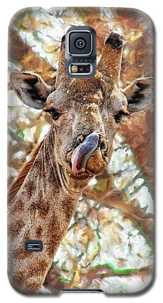 Giraffe Says Yum Galaxy S5 Case