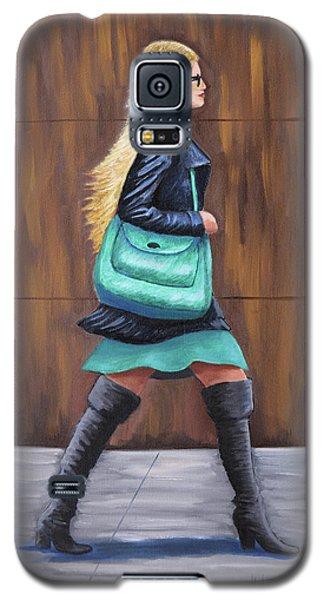 Girl Walking Galaxy S5 Case