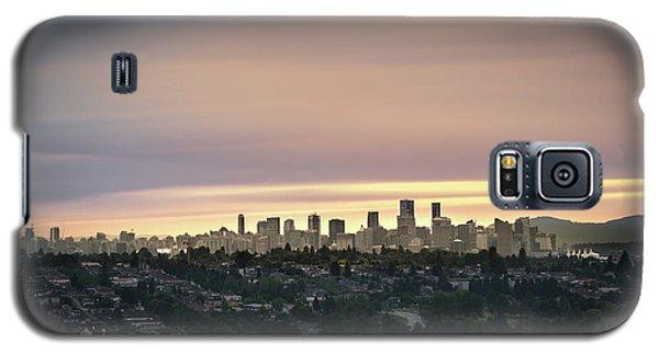 Gloden Sky On Vancouver Galaxy S5 Case