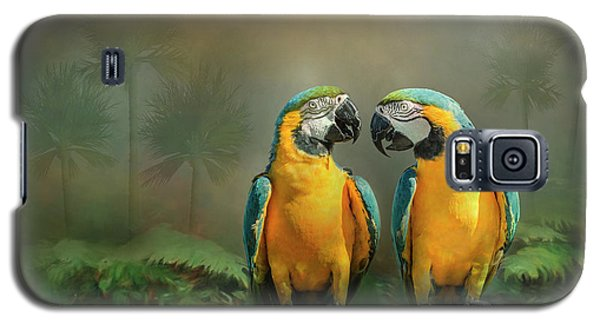 Gold And Blue Macaw Pair Galaxy S5 Case