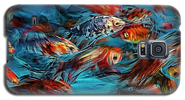 Gold Fish Abstract Galaxy S5 Case