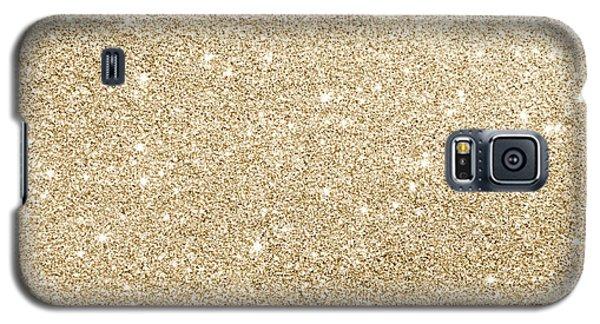 Gold Glitter Galaxy S5 Case