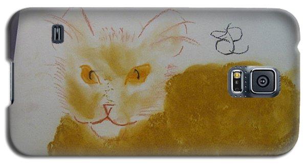 Golden Cat Galaxy S5 Case