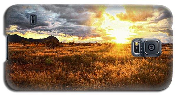 Golden Light Of Southern Arizona Galaxy S5 Case