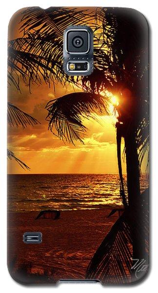 Golden Palm Sunrise Galaxy S5 Case