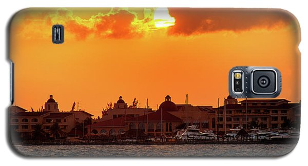 Golden Sky In Cancun Galaxy S5 Case