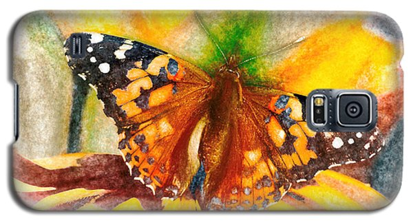 Gorgeous Painted Lady Butterfly Galaxy S5 Case