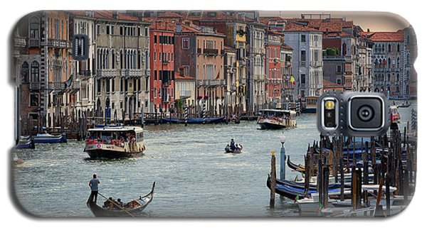 Grand Canal Gondolier Venice Italy Sunset Galaxy S5 Case