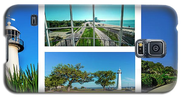 Grand Old Lighthouse Biloxi Ms Collage A1a Galaxy S5 Case
