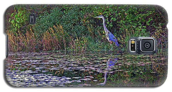 Great Blue Heron In Autumn Galaxy S5 Case