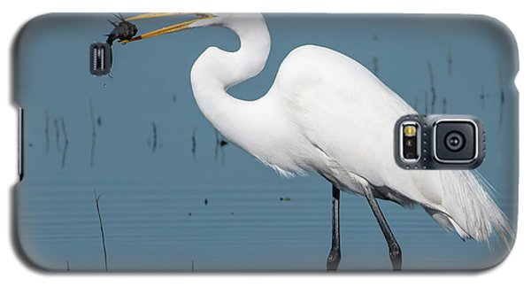 Great Egret With Fish Galaxy S5 Case