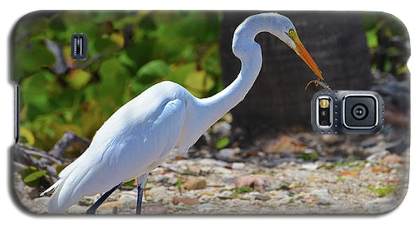Great White Egret Hunter Galaxy S5 Case