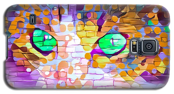 Green Eyed Cat Abstract Galaxy S5 Case