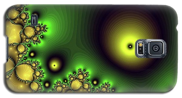 Green Glowing Bliss Abstract Galaxy S5 Case