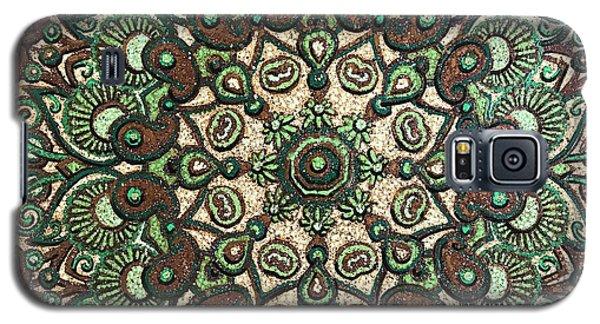 Green Mandala Galaxy S5 Case