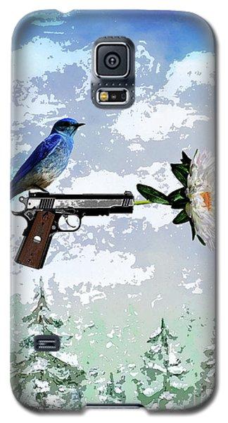 Bluebird Of Happiness- Flower In A Gun Galaxy S5 Case